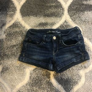AEO denim shorts